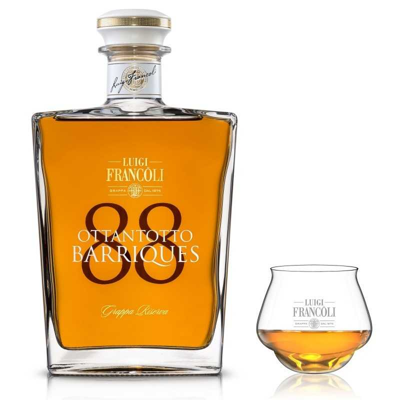 Grappa Riserva 88 Barrique Wood 42,5% Vol. 0,7L - FRANCOLI